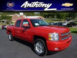 2013 Victory Red Chevrolet Silverado 1500 LT Crew Cab 4x4 #70963729