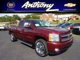 2013 Deep Ruby Metallic Chevrolet Silverado 1500 LTZ Extended Cab 4x4 #70963725