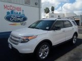 2013 White Platinum Tri-Coat Ford Explorer XLT #70963162