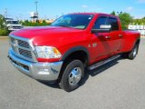 2010 Inferno Red Crystal Pearl Dodge Ram 3500 SLT Crew Cab 4x4 Dually #70963635
