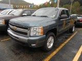 2010 Blue Granite Metallic Chevrolet Silverado 1500 LT Extended Cab 4x4 #70963114