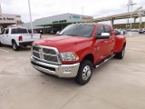2012 Flame Red Dodge Ram 3500 HD Laramie Mega Cab 4x4 #70963513