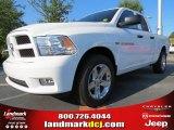 2012 Bright White Dodge Ram 1500 Express Quad Cab #71009950