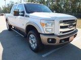2012 White Platinum Metallic Tri-Coat Ford F250 Super Duty King Ranch Crew Cab 4x4 #71010468