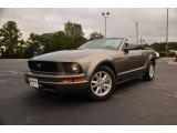 2005 Mineral Grey Metallic Ford Mustang V6 Deluxe Convertible #71063105