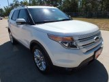 2013 White Platinum Tri-Coat Ford Explorer Limited #71063413