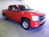 2008 Victory Red Chevrolet Silverado 1500 Z71 Crew Cab 4x4 #71063075
