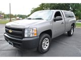 2008 Graystone Metallic Chevrolet Silverado 1500 Work Truck Regular Cab 4x4 #71063055