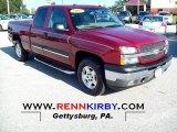 2005 Sport Red Metallic Chevrolet Silverado 1500 LT Extended Cab 4x4 #71063045