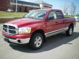 2006 Inferno Red Crystal Pearl Dodge Ram 1500 SLT Quad Cab 4x4 #7059751