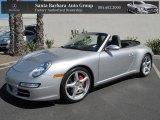 2007 Arctic Silver Metallic Porsche 911 Carrera 4S Cabriolet #71062625