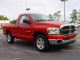 2007 Flame Red Dodge Ram 1500 SLT Regular Cab #7065172