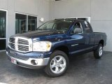 2007 Patriot Blue Pearl Dodge Ram 1500 Big Horn Edition Quad Cab 4x4 #7058440