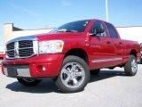 2007 Inferno Red Crystal Pearl Dodge Ram 1500 Laramie Quad Cab 4x4 #7058256