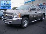 2012 Mocha Steel Metallic Chevrolet Silverado 1500 LT Crew Cab 4x4 #71062596