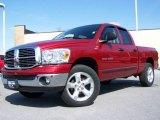2007 Inferno Red Crystal Pearl Dodge Ram 1500 Big Horn Edition Quad Cab #7058261