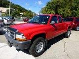 2004 Flame Red Dodge Dakota SLT Club Cab 4x4 #71062961
