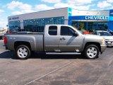 2008 Graystone Metallic Chevrolet Silverado 1500 LT Extended Cab 4x4 #71062543