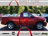2012 Deep Cherry Red Crystal Pearl Dodge Ram 1500 Express Regular Cab 4x4 #71062510