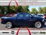 2012 True Blue Pearl Dodge Ram 1500 Express Quad Cab 4x4 #71062501