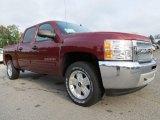2013 Deep Ruby Metallic Chevrolet Silverado 1500 LT Crew Cab 4x4 #71062902