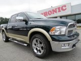 2011 Hunter Green Pearl Dodge Ram 1500 Laramie Crew Cab #71062783
