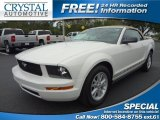 2005 Performance White Ford Mustang V6 Deluxe Convertible #71132479