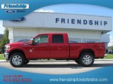 2012 Vermillion Red Ford F250 Super Duty Lariat Crew Cab 4x4 #71132112