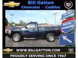 2008 Dark Blue Metallic Chevrolet Silverado 1500 LS Regular Cab 4x4 #71132706
