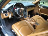 2007 Porsche 911 Turbo Coupe Natural Leather Brown Interior