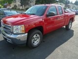 2012 Victory Red Chevrolet Silverado 1500 LT Extended Cab 4x4 #71132055