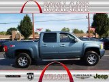 2007 Blue Granite Metallic Chevrolet Silverado 1500 LT Crew Cab 4x4 #71132657