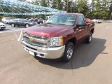 2013 Deep Ruby Metallic Chevrolet Silverado 1500 Work Truck Regular Cab 4x4 #71132484