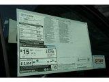 2013 Toyota Tundra CrewMax 4x4 Window Sticker