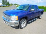 2013 Blue Topaz Metallic Chevrolet Silverado 1500 LT Extended Cab 4x4 #71222493