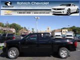 2013 Black Chevrolet Silverado 1500 LTZ Crew Cab 4x4 #71227756