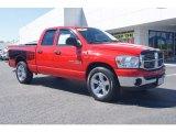 2007 Flame Red Dodge Ram 1500 SLT Quad Cab #71227288