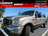 2002 Arizona Beige Metallic Ford F250 Super Duty Lariat Crew Cab 4x4 #71227285