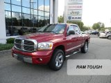 2006 Inferno Red Crystal Pearl Dodge Ram 1500 Laramie Quad Cab 4x4 #71227450