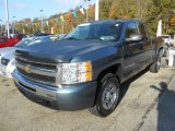 2009 Blue Granite Metallic Chevrolet Silverado 1500 LS Extended Cab 4x4 #71227207