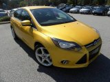 2012 Yellow Blaze Tricoat Metallic Ford Focus Titanium 5-Door #71227428