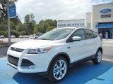2013 White Platinum Metallic Tri-Coat Ford Escape Titanium 2.0L EcoBoost #71275016