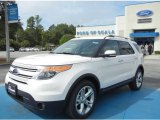 2013 White Platinum Tri-Coat Ford Explorer Limited EcoBoost #71275003