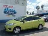 2013 Lime Squeeze Ford Fiesta SE Sedan #71274949