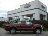 2012 Vermillion Red Ford F250 Super Duty XLT SuperCab 4x4 #71274905
