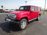 2012 Flame Red Jeep Wrangler Unlimited Sahara 4x4 #71275230