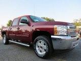 2013 Deep Ruby Metallic Chevrolet Silverado 1500 LT Crew Cab 4x4 #71275184