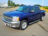 2013 Blue Topaz Metallic Chevrolet Silverado 1500 LT Crew Cab 4x4 #71275403