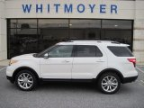 2013 White Platinum Tri-Coat Ford Explorer Limited 4WD #71337575