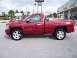 2007 Sport Red Metallic Chevrolet Silverado 1500 LT Regular Cab 4x4 #545842